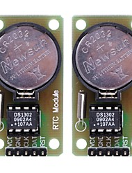 DS1302 Real Time Clock Module with CR2032 Button Cell - Black +Green (2PCS)