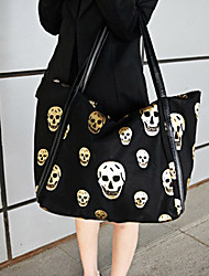 GMN  Women's Casual Skull  One Shoulder Tote(Black)