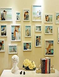 Cor branco Photo Frame Set Coleção de 18