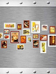 Coffee Weiß gemischte Farben-Photo Frame Collection Set von 20