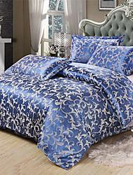 Longou Pure Cotton Blue Set Of Four Bedding