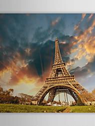 Натяжные Печать холст Art альбомный режим выше Эйфелевой башни, Франция