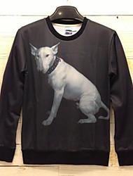 Men's 3D Series Dog Pattern Printing Fashion Fleece