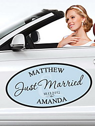 Personalized Flourish Wedding Window/Car Cling (More Colors)