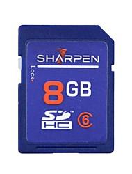 SHARPEN High Speed Flash Memory SD SDHC Card Class 6  8GB  -Blue