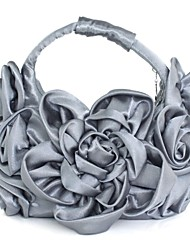 Silk Special Occasion/Casual Hobos/Evening Handbags with Flower