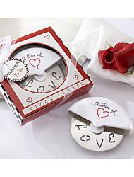Amasra A Slice of Love roestvrijstalen Pizza Cutter in Miniatuur Pizza Box gunsten