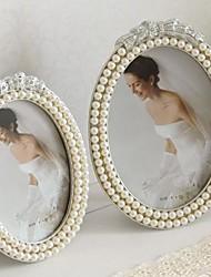 "6 ""7"" moderna perla estilo marco de fotos de metal europeo"