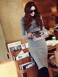 Women's Casual Long Sleeve Hooded Bodycon Dress