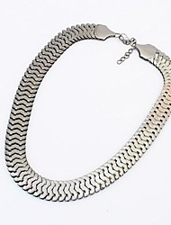 Europe and The United States Personality Metal Thick Chain Short Necklace(More Colors)
