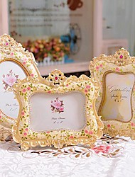 "6 ""7"" Picture moderno stile europeo Pearl Metal Frame Set di 3"