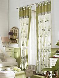 (Dos paneles del grifo superior) país plantas de maceta estilo fresco energía modelo de la cortina de ahorro