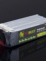 Leeuw 22.2V 6S 2800mAh 35C Lipo Battery Power voor Trex RC Helicopter 500 Model (T Plug)