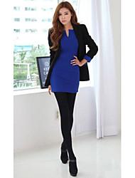 Women's Work Solid Sheath Dress , V Neck Knee-length Acrylic