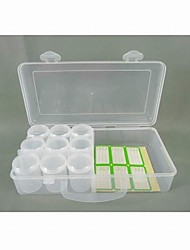 Plastic 9 Compartments Transparent  Storage Case