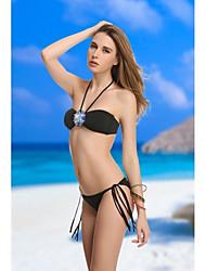 Desgaste VBM Marca Women'sBeack cristalino de la vendimia Bandeau Bikinis Sexiest Beach Swimwear Natación Trajes de Biquini