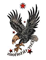 5 pièces faucon tatouage temporaire imperméable à l'eau (10.5cm * 20.5cm) HM568