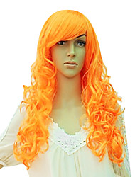 Long Synthetic Wavy Wig Side Bang Multiple Colors Available