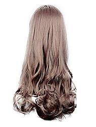 High Quality Cosplay Synthetic Wig Harajuku Style Lolita Side Bang Wavy Long Wig(Auburn)