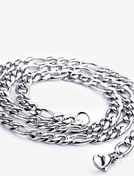 Mlle rose®silver plaqué collier de chaîne en acier de titane (9mm)