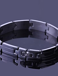 Personalized Gift  Stainless Steel Jewelry Engraved ID Bracelets 1cm Width