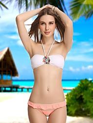 De VBM Mulheres Crystal Vintage Bandeau Mais Sexy Bikinis Beach Wear Swimwear Natação Ternos Biquini