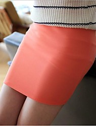 Women's Solid Color Pencil Mini Skirt 9 Colors