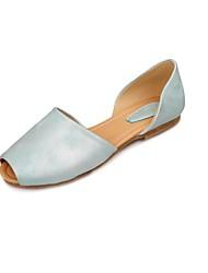 Women's Flat Heel Peep Toe Flats Shoes(More Colors)