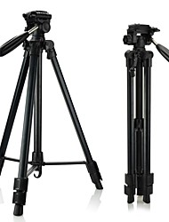 DSTE Total length 160cm Retractable Tripod & three-dimensional PTZ for Camera / Camcorder - Black