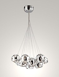 UMEI™ 10 Watt Modern/Contemporary / Globe Bulb Included Chrome Metal Pendant Lights