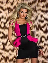 Mujeres YSM Sexy cintura alta con volados Vestido con cinturón