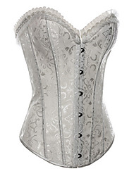 Jacquard Cotton Front Busk Closure Steel Boning Corset Shapewear With T-strap(More Colors) Sexy Lingerie Shaper