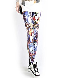 Women's Fashion Poll Printed Leggings