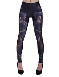 Elonbo Women's Digital Printing Coloured Drawing or Pattern Beautiful Dancer Style Tight  Leggings