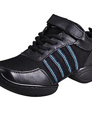 De las mujeres de cuero suave de la raya Gimnasio Zapatillas Zapatos de baile