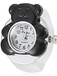 Women's Bear Style Silver Alloy Quartz Ring Watch Cool Watches Unique Watches