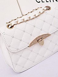 Oudi Quilted Korean Version Of The New Packet Shoulder Diagonal Temperament Handbag (White)