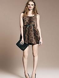 Leopard Vestido Estampado de la Mujer