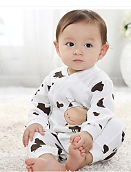 Boy's  Cow Design Baby Romper Open Trouser