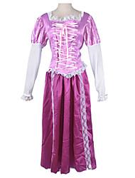 série de princesse de costume de partie de luxe violet satiné femmes Halloween