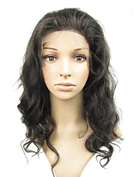 "Loose Body Wave Full Lace With Stretch Net 18"" Indian Remy Human Hair Wigs- 5 Colors to Choose"