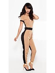 Женская Экспорт Новый дизайн двойной цвет Потрясающие бинты Комбинезон