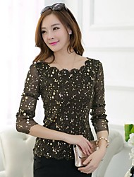 JFS Korea Sytle Women's Slim Fit Blingbling Long Sleeve Shirt