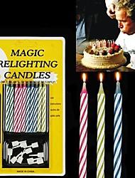 10PCS Mixed-color Magic Relighting Candles Practical Joke Gadgets