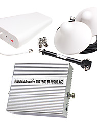 GSM900 1800mhz Dual band signal repeater amplifier coverage 1000m2