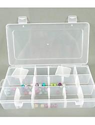 Plastique 18 compartiments mallette de rangement transparent