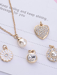 Women's Jewelry Set Pendant Necklaces Imitation Pearl Rhinestone Alloy Costume Jewelry Jewelry For Party Daily Casual