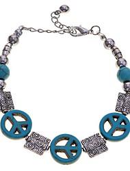 lureme®turqoise anti-guerra contas de paz pulseira