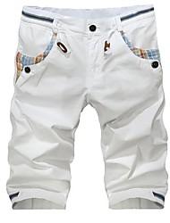 Männer Casual Weiß 5 Minuten Hosen Strand-Hosen