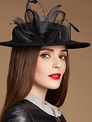 Mesdames laine délicates partie / mariage / chapeau en plein air avec la plume